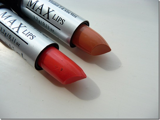 MAX lipsticks – swatches