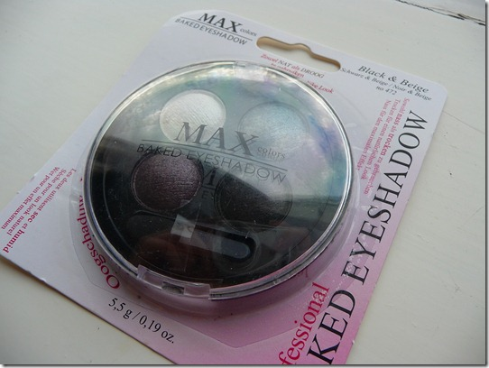 MAX – Baked eyeshadow 472 Black & Beige