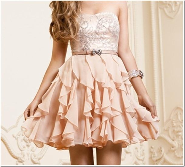 Poederroze jurk lang