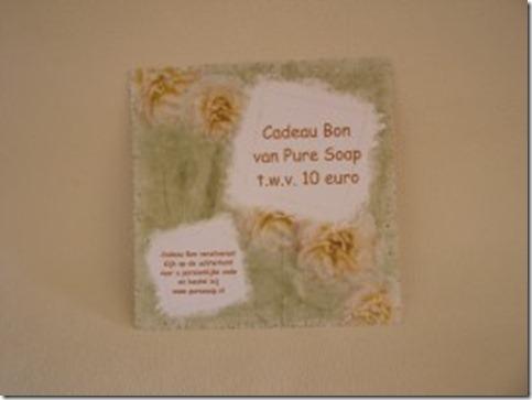 Winactie dag #8–Win een Pure Soap cadeaubon t.w.v. € 10,00