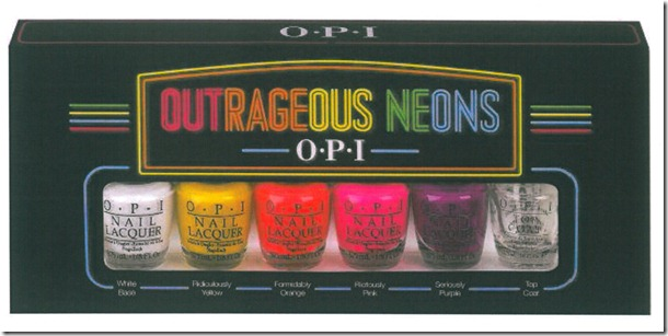 OPI komt met Neon collectie - Outrageous Neons