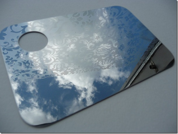 Stainless steel make up palette
