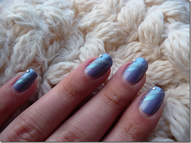 roze kerstlook winter nail art 024