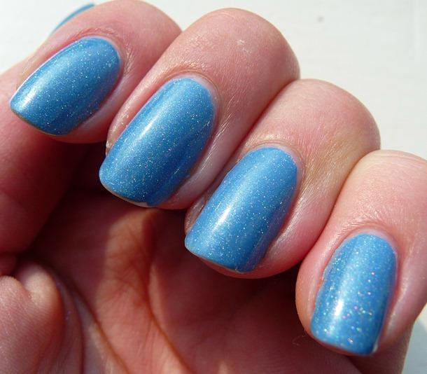 Blauw Holografische nagels