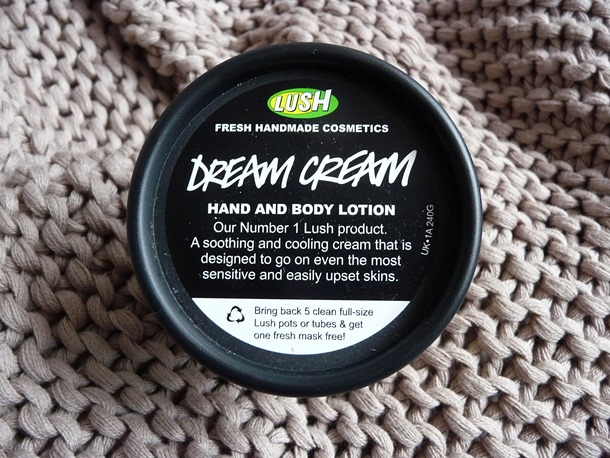 Lush Dream Cream hand body lotion huid verzorging review getest