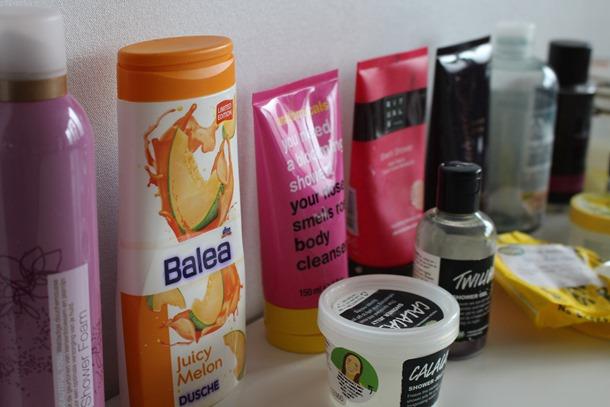Opgemaakte doucheproducten van het afgelopen half jaar