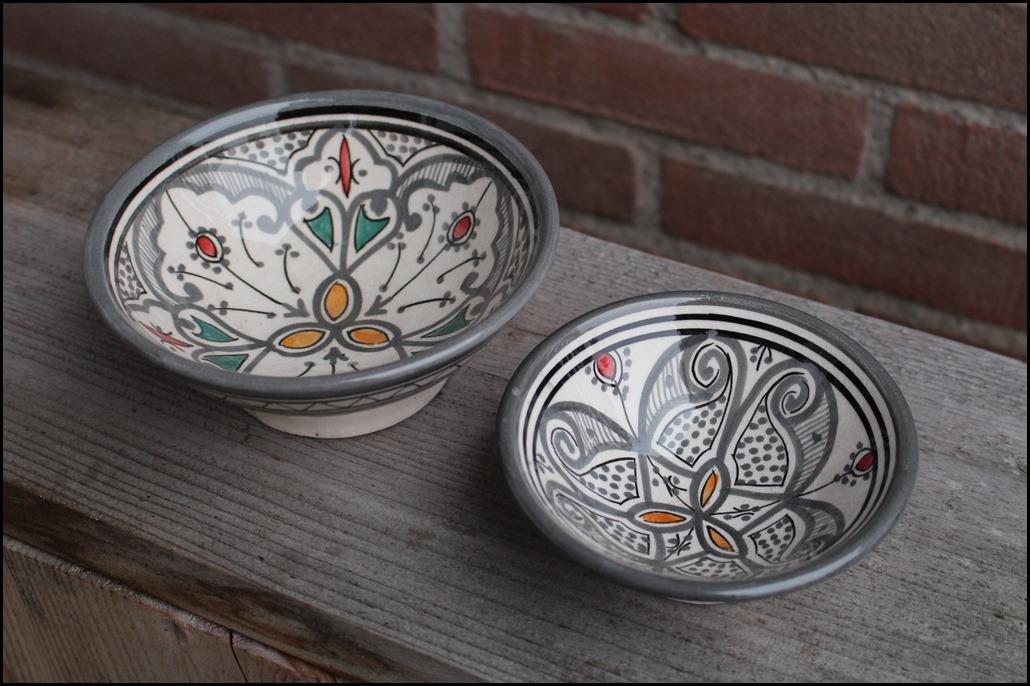 schaaltjes marokko marrakesh handgemaakt bakjes beschilderd